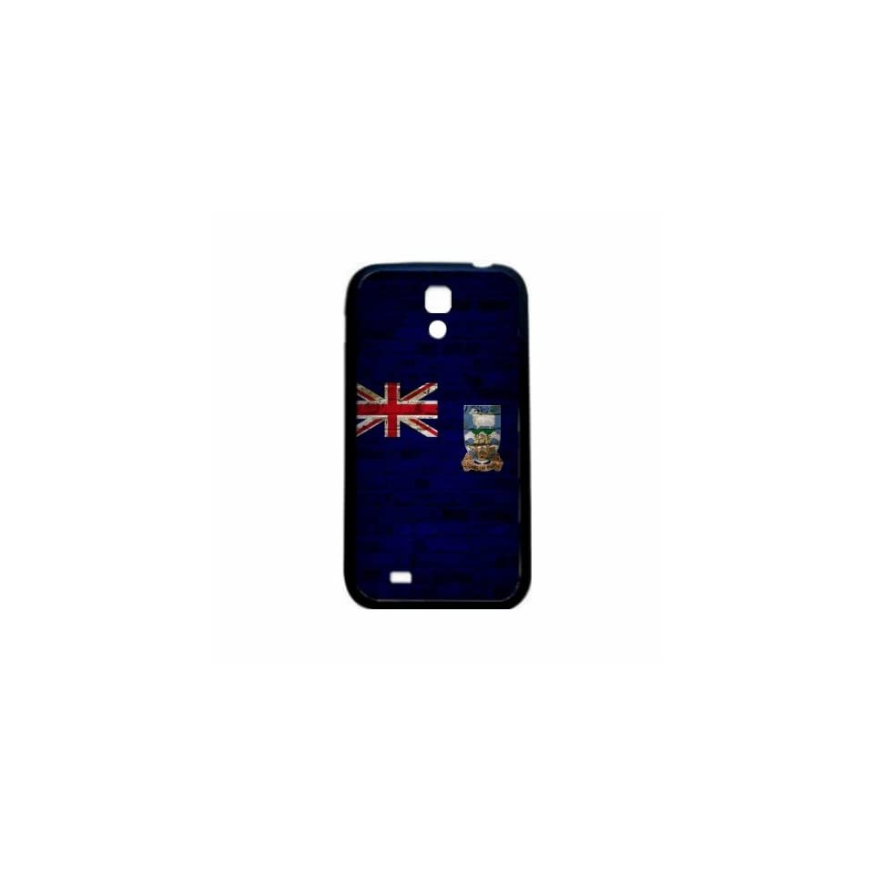 Falkland Islands Brick Wall Flag Samsung Galaxy S4 Black Silcone Case   Provides Great Protection