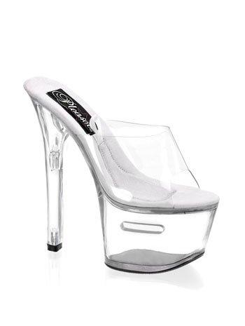 Sexy High Heel Fantasy Dancer Tipjar Platform Shoe - 7