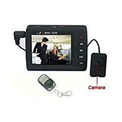 NPC Professional Spy Button Camera with LCD DVR