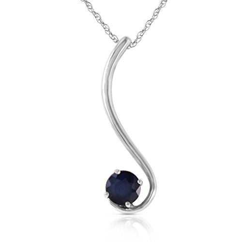 14k Yellow, White, Rose Gold Necklace with Natural Sapphire - comes in Gift Box
