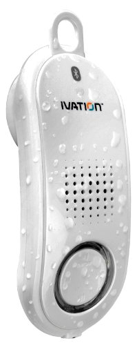 Ivation Talk-N-Tunes Ipx7 2-In-1 Waterproof Bluetooth Speaker And Handset (White) - Stream Loud Music Or Take A Call Privately At The Push Of A Button - Fully Immiscible In Water