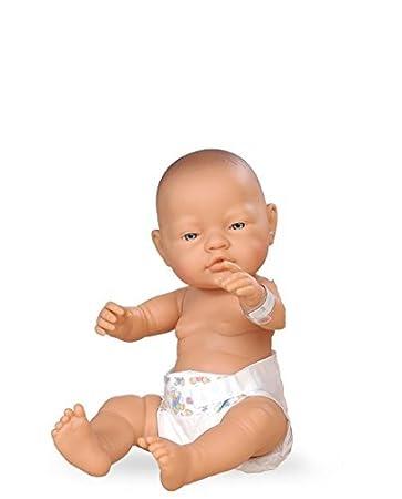 Paola Reina - 05047- Poupée - Bébé Nouveau-né - Petit garçon avec couche - Collection Les Bebitos Nouveaux-Nés - 45 cm