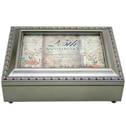 25th Anniversary Keepsake Music Box - Beautiful 25th Anniversary Gift