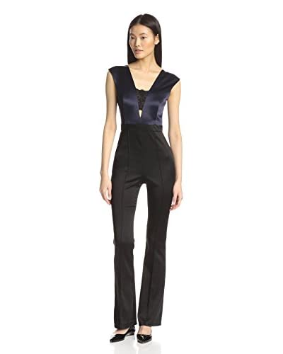 A.B.S. by Allen Schwartz Women's Colorblocked Flared Leg Jumpsuit
