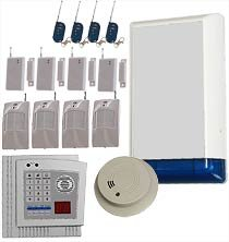 Burglar Alarm System with Integrated Fire Alert, Autodial Feature