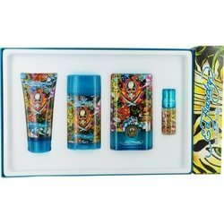 Ed Hardy Hearts & Daggers By Christian Audigier Cologne Gift Set For Men (Edt Spray 3.4 Oz & Deodora