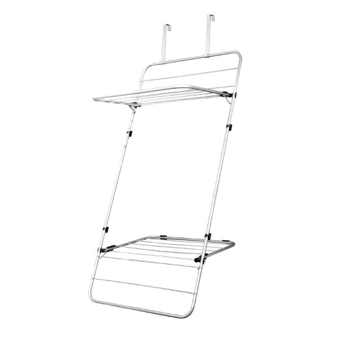 Clothes Airer Minky Door Or Wall Mounted Indoor Drying Rack Silver
