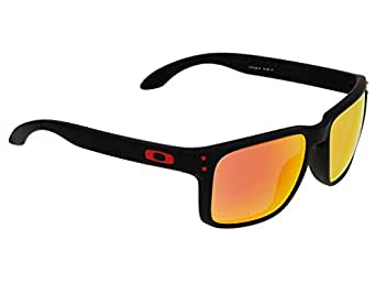 Oakley Mens Holbrook OO9102-08 Iridium Square Sunglasses,Raw Frame/24K Lens,One Size