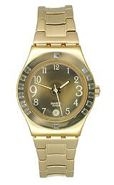 Swatch Women&#8217;s YLG404G Fancy Me Gold Dial and Bracelet Watch