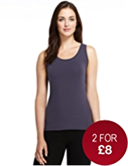 Fairtrade Cotton Rich Scoop Neck Vest with StayNEW™