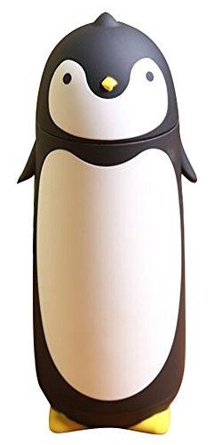 alohha-stainless-steel-cartoon-thermos-water-bottle-for-kids-water-bottle-penguin-black