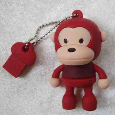 4GB Baby Monkey USB 2.0 High Speed Silicon Flash Memory Drive Disk Stick Pen Support Windows and MacOS Great Gift (4GB RED BROWN T-SHIRT) from EASYWORLD
