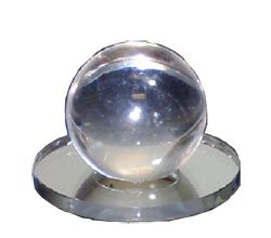 Clear Acrylic Small Ball Stick-On Mirror Knob (Stick On Door Knob compare prices)