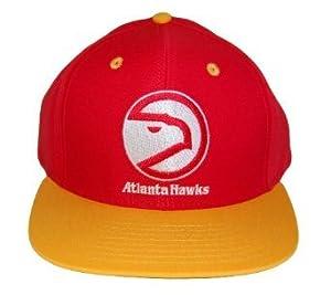 NBA Retro Atlanta Hawks Snapback Hat Cap - 2 Tone Red Gold by NBA