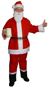 Saloon santa Claus Suit for Bar Crawls, and Running Events