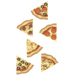 Bulletin Board Accents Pizza Slices