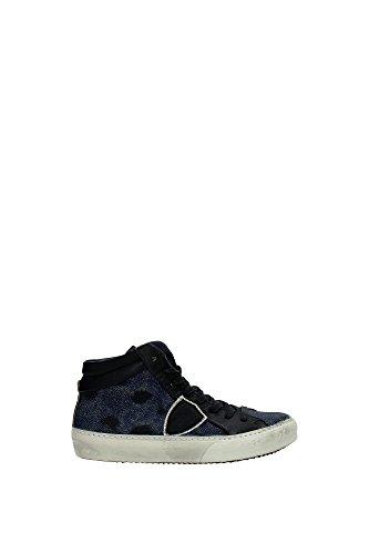 Sneakers Philippe Model Donna Pelle Blu e Nero MDHDGX01 Blu 37EU