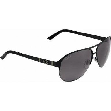 e11a0ad7da3 Gucci GG4233S Sunglasses-0LQU Shiny Black (3H Smoke Polarized Lens)-62mm