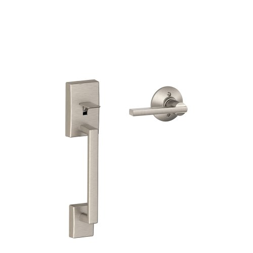 Schlage FE285 CEN 619 LAT Century Handleset, Lower Half with Latitude Lever, Satin Nickel