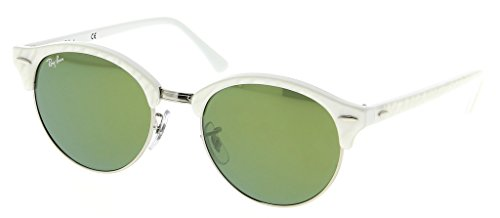 Ray Ban RB4246 988/2X 51 Wrinkled White on White Sunglasses Bundle-2 Items