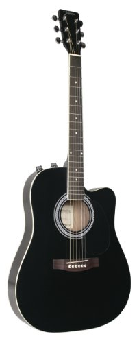 Johnson Jg-650-Tb Thinbody Acoustic Guitar With Pickup, Black