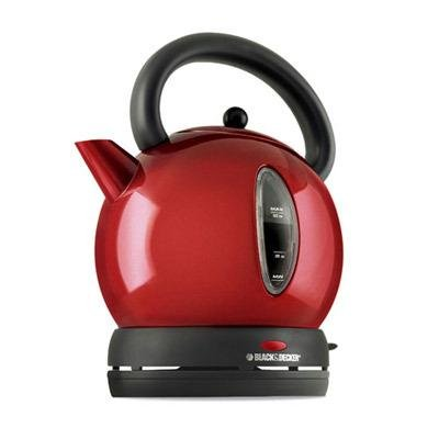 Black & Decker CK1500R Cordless Electric 57-1/2-Ounce Dome Kettle, Red - Comment and Review