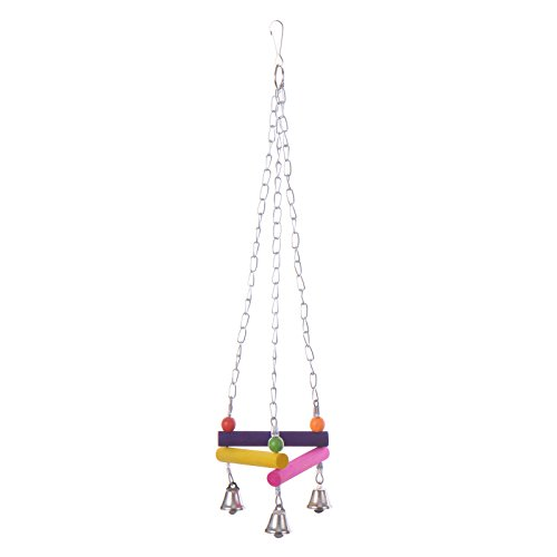 Yunt-Pet-Bird-Parrot-Parakeet-Budgie-Cockatiel-Cage-Hammock-Swing-Toy-Hanging-ToyStyle-B