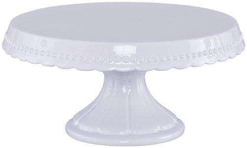 RBV Birkmann 441415 Vintage Assiette à Gâteau sur Pied Plastique Blanc M Diamètre 23 cm