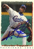 Kevin Foster, Chicago Cubs, 1995 Topps Autographed Card