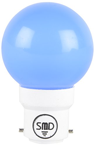 1W-Fiber-B27-LED-Bulb-(Blue,-Set-of-10)