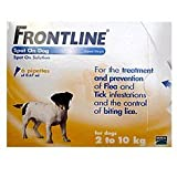 Frontline Spot On Small Dog 2kg - 10kg 6 Pipettes