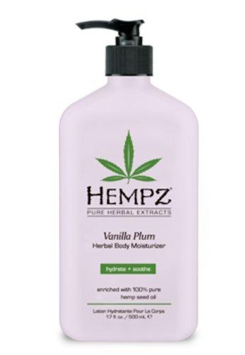 Hempz Vanilla Plum Herbal Body Moisturizer by Hempz for Unis