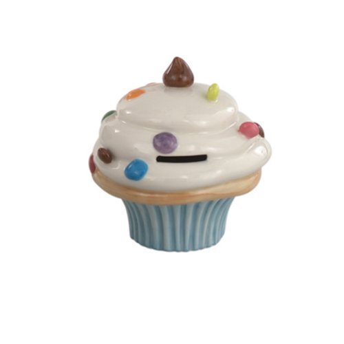 Andrea by Sadek Piggy Bank Cupcake Cup Cake Light Blue - 1
