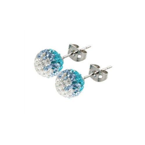 Tresor Paris Meslier Crystal Earrings 8mm