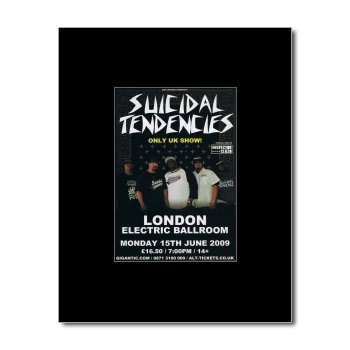Suicidal Tendencies - Electric Ballroom 2009 Matted Mini Poster - 13.5X10Cm