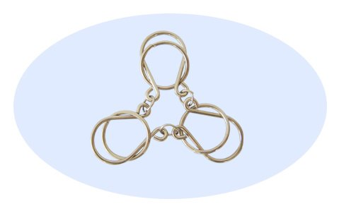Chained Rings Wire Metal Puzzle - 1