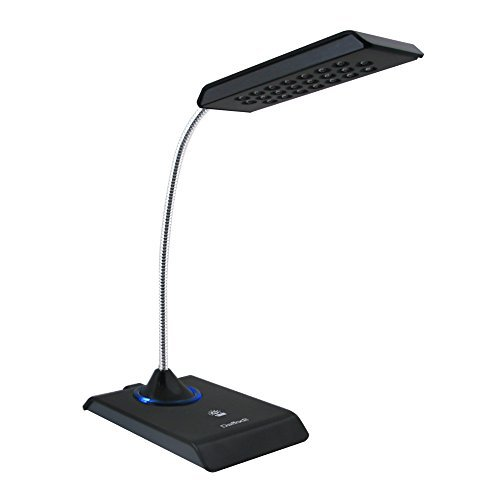 Daffodil-LEC200-USB-LED-Lampe-USB-Tastaturlampe-Leselicht-Leselampe-mit-12-superhellen-LEDs-PC-sowie-MAC-kompatibel-keine-Batterien-notwendig-Schwarz