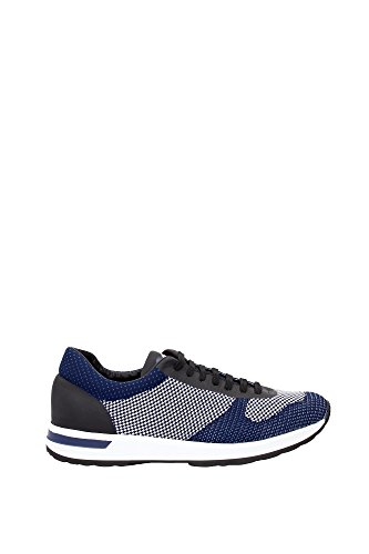 Sneakers Moncler Uomo Tessuto Blu e Nero B109A101130007952746 Blu 43EU