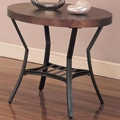 Cheap Bernardina End Table with Metal Base and Wood Top by Coaster Furniture (B0051PE2J4)