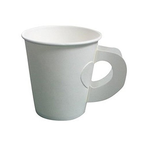 Bvi Hot Paper Cup White With Handle (50Pcs)