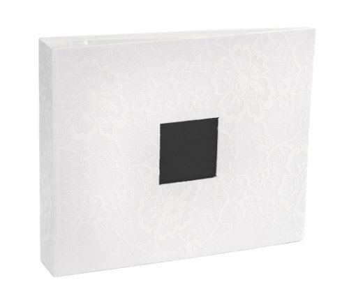 American Crafts D-Ring Photo Album, 12 by 12-Inch, Lace White (Adhesive D Ring compare prices)