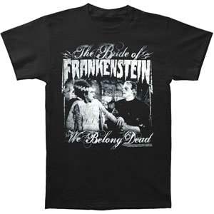 Universal Monsters Men's We Belong Dead T-shirt Black