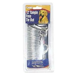 Cadet Tangle Free Tie Out for Dogs, 12-Feet
