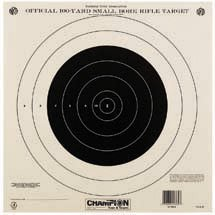 Champion NRA Paper TQ-4 P 100-yard Single Bullseye to Train or Qualify Target Pack of 100B0000C51CT