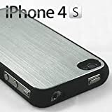 iPhone 4 4S Aluminium Hard Back Cover Black Bumper Case - Part of the Tekkerz Accessories Rangeby CellPhoneShop