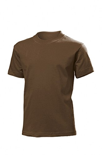 Kids Soft Cotton Military T-Shirt (5-6 years, Chestnut Brown)