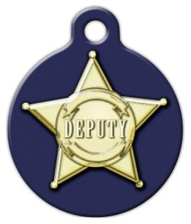Deputy - Custom Pet ID Tag for Dogs and Cats - Dog Tag Art - SMALL SIZE