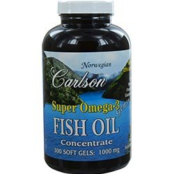 Carlson By Super Omega 3 Gems Fish Oil Concentrate --300 Soft Gels