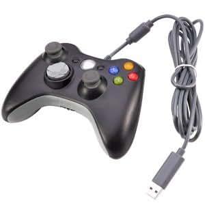 Manette Filaire Noire Pour Xbox 360 - PC windows 7