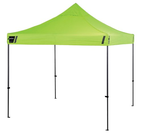 Ergodyne Shax 6000 Heavy-Duty Commercial Pop-Up Tent, Lime